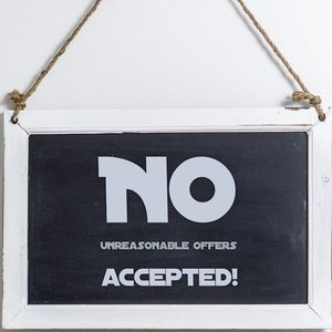 Other - No unreasonable offers accepted